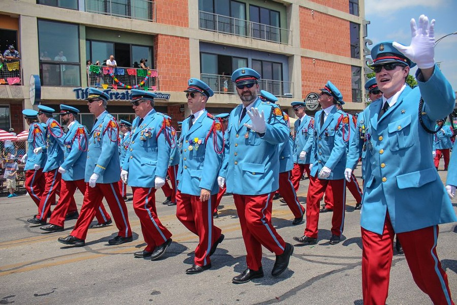 I'm sweating just imagining wearing all this AND walking the parade. - SAN ANTONIO CURRENT PROMOTIONS TEAM