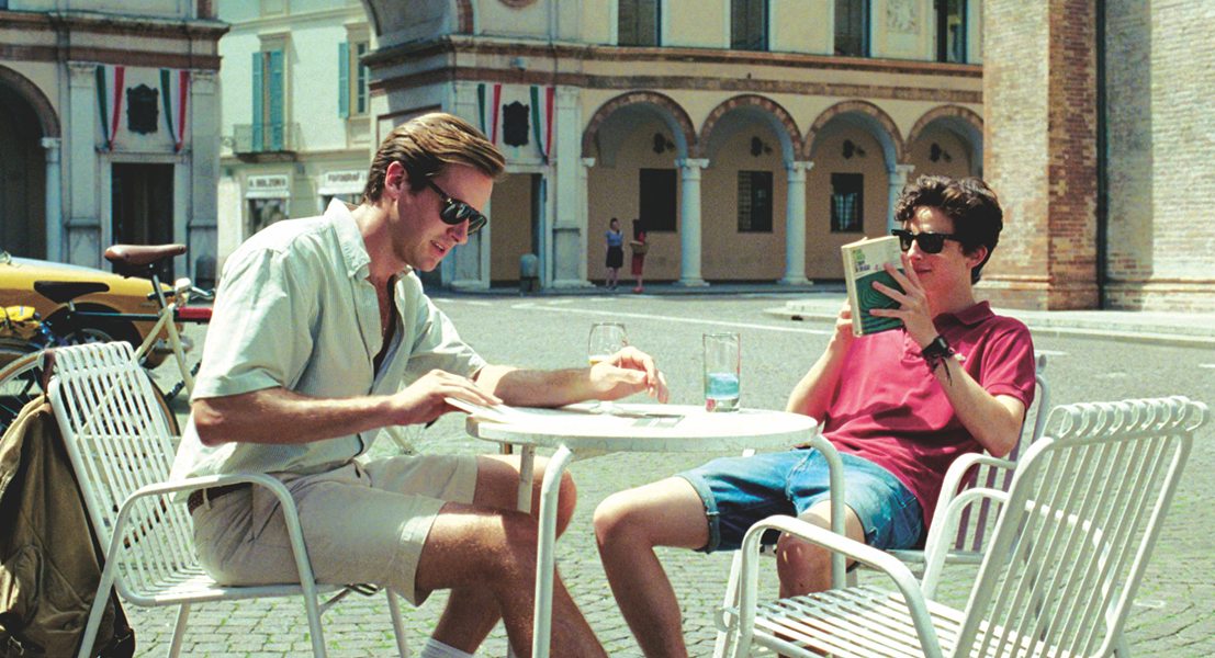 Armie Hammer (left) and Timothee Chalamet take in the scenery in Call Me by Your Name. - SONY PICTURES CLASSICS