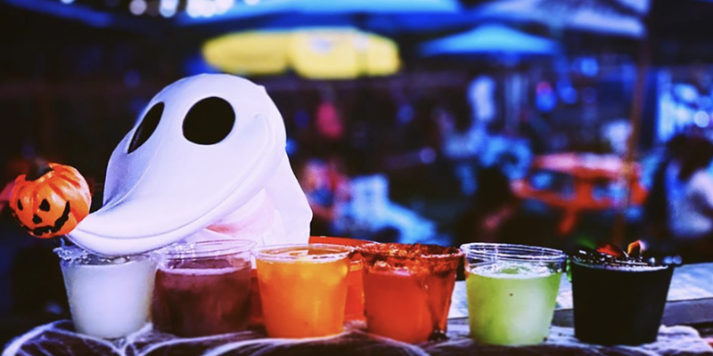 Try the new Halloween-themed margarita flight at Hops & Hounds' event Saturday.