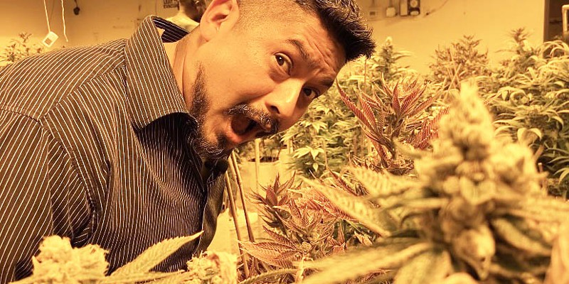 Villarreal visits one of Denver's top dispensaries and grow houses, Den-Rec, to procure product for a multi-course cannabis-infused dinner.