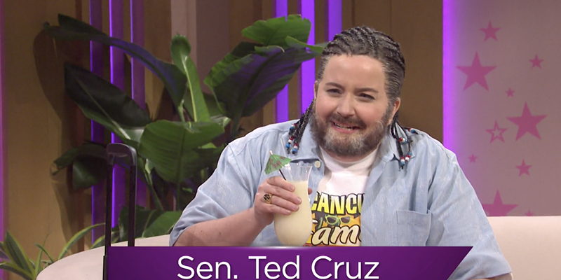 Aidy Bryant portrayed a post-Cancún Ted Cruz in last week's episode of Saturday Night Live.