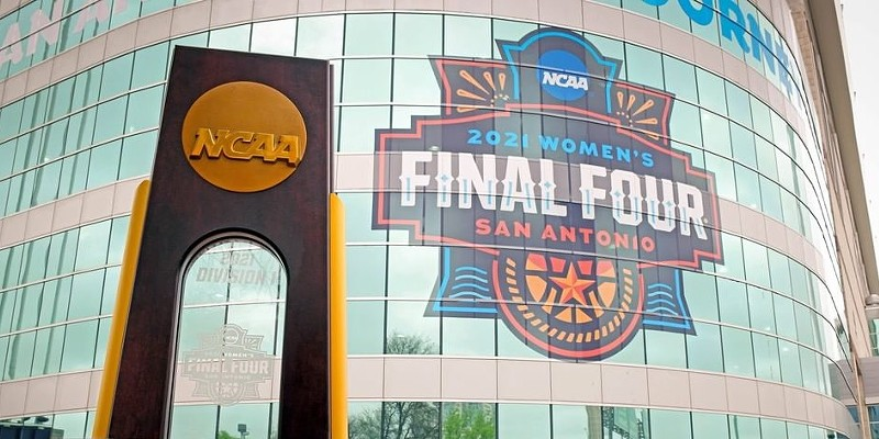 The NCAA held its 2021 women's basketball tournament in San Antonio this spring.