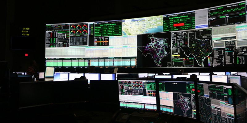ERCOT staff monitor the state's power grid.