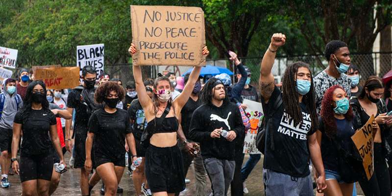 San Antonians march against police oppression during nationwide protests last year.