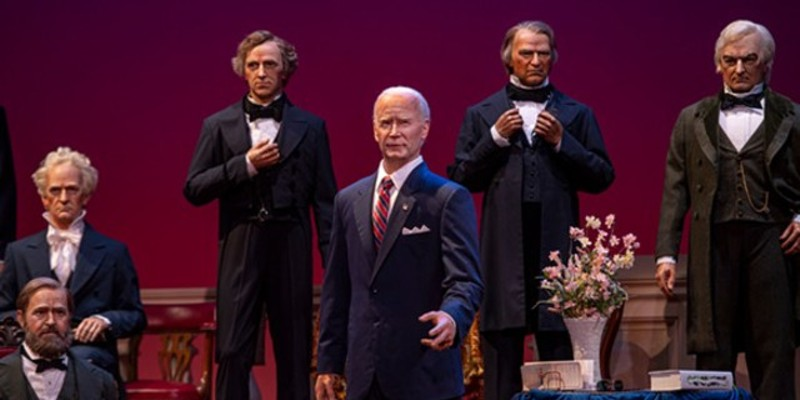 Joe Biden's presidential animatronic has been added to the Hall of Presidents.