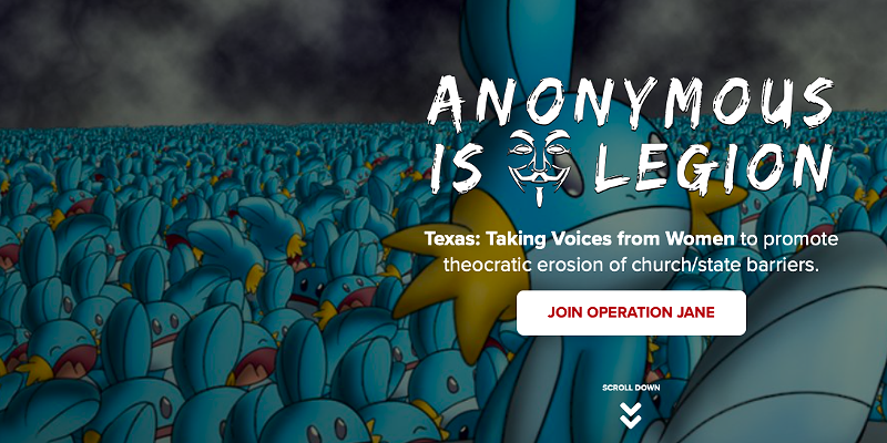 This banner featuring starter Pokémon Mudkip —and ... umm ... other stuff —appeared on the Texas Republican Party's website on Saturday.