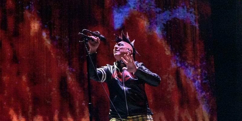 Tool singer Maynard James Keenan performs at the AT&T Center in 2019.