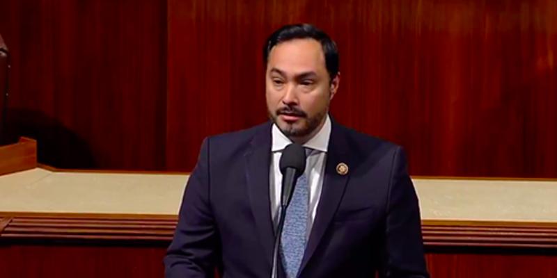 U.S. Rep. Joaquin Castro speaks in the U.S. House of Representatives.