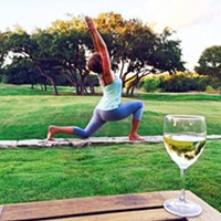 """Wine Down Yoga"" at Windflower Spa"