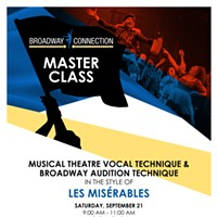 Broadway Vocal Technique Master Class at The Public Theater