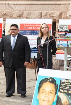 Watts Guerra LLP attorneys hold a press conference announcing lawsuits against South Texas' Dr. Jorge Zamora-Quezada.