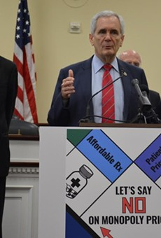 Rep. Lloyd Doggett discusses his new bill at a Washington D.C. press conference.