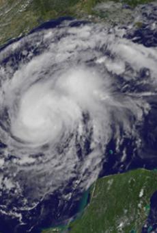 Ol' Hurricane Harv hanging in the Gulf.