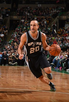 Spurs veteran Manu Ginobili in motion