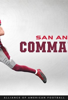 The San Antonio Commanders will be decked out in red and gray.