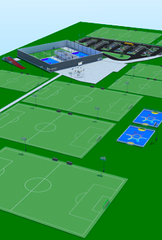 An artist's rendering of Soccer Central's proposed $6.2 million facility.