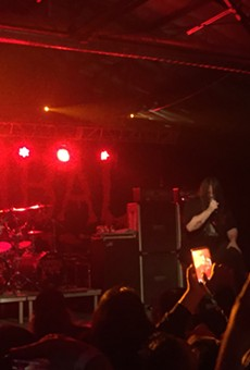 "Cannibal Corpse rips into ""Code of the Slashers"" last night at VIBES Event Center."