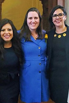 Members of the State Legislature's LGBTQ Caucus: State Representatives Celia Israel, Mary Gonzalez, Erin Zwiener, Jessica Gonzalez and Julie Johnson.