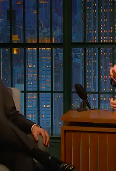 Host Seth Meyers asks Julian Castro about the current HUD secretary's track record.