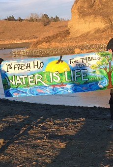 Under a new Texas law, protesters such as these people who protested the Dakota Access Pipeline could face felony charges.