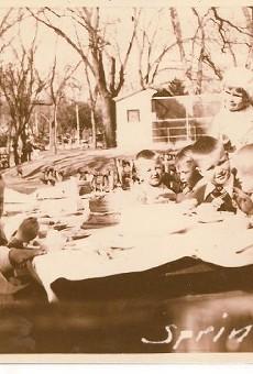 Local children enjoy Kiddie Park, spring 1933.