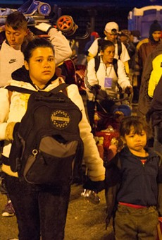 Central American migrants make their way through Mexico to seek asylum at the U.S. border.
