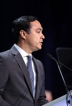 U.S. Congressman Joaquin Castro speaks at the 2019 California Democratic Party State Convention.