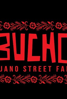 Artist Regina Morales' logo for the pop-up restaurant ¡Bucho!