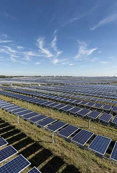 CPS Energy has increasingly relied on green power sources, including this solar array, but environmentalists warn the revised climate plan doesn't push it fast enough.