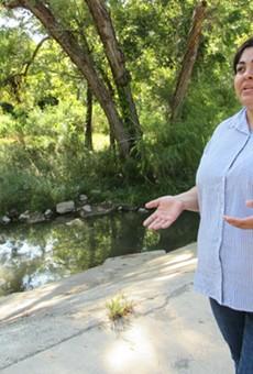 Southwest Workers Union member Sandra Garcia discusses contamination in Leon Creek.