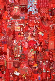 """Linda Pace's poppy Red Project welcomes visitors into Ruby City's inaugural exhibition """"Waking Dream."""""""