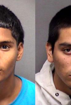 (L-R) Xavier Moreno Cardoza, 18, and Delfino Rojas Jr., 20