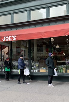 A line at a Trader Joe's location in New York City