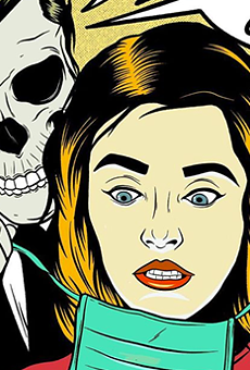 San Antonio Artist Tries to Quash Social Media Panic With New Pandemic-Themed Illustration