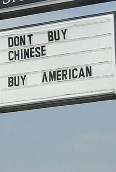Chester's Hamburgers Posts Problematic Anti-China Message on Restaurant Sign (2)