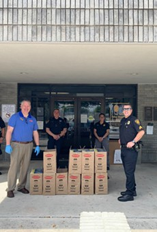 Jason's Deli delivers lunch to the San Antonio Police Department's South Substation.