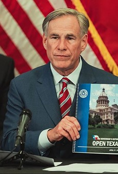 Gov. Greg Abbott shows off his reopening plan during a recent press conference.