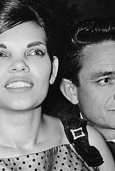 Vivian Liberto (left) met Johnny Cash in San Antonio when the singer was a trainee at Lackland AFB.