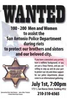 City of San Antonio Tells Local Business Owner to Stop Recruiting 'Texas Patriot' Patrol