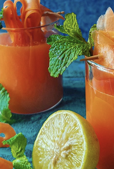 While this Carrot Lemonade from southernspicetales Is *technically* a mocktail, all it takes is a little bit of booze to jazz it up.
