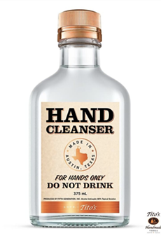Tito's Vodka Giving Out Free Hand Sanitizer Thursday at San Antonio's AT&T Center
