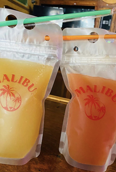 Calahan's Pub is offering $5 Rum Punch and Blue Hawaiian cocktails to-go.