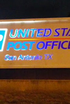 The sign at the U.S. Postal Service's Perrin Beiltel Road distribution center.