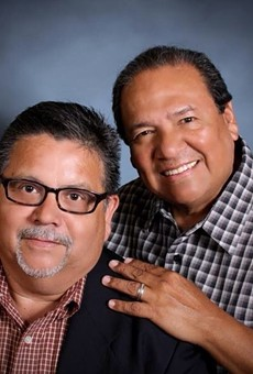 San Antonians Mike Rodriguez (left) and Brad Veloz have been together for nearly 40 years.