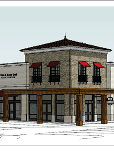 A rendering of what the new location will look like at The Rim.