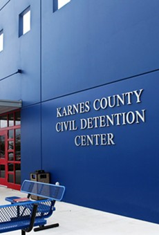 Jeh Johnson, head of the U.S. Department of Homeland Security, will tour the Karnes County detention center today