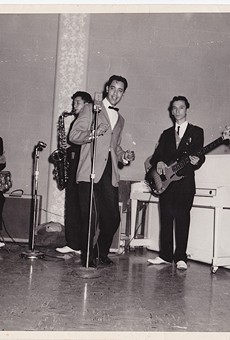 From the '50s to the '70s, The Royal Jesters were one of San Antonio's most requested soul outfits. Here's the group rehearsing at Municipal Auditorium (left to right: Oscar Lawson, Louie Escalante, Henry Hernandez, Dimas Garza).
