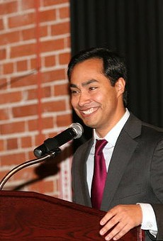 Rep. Joaquin Castro and seven other House Democrats toured the Karnes County Residential Center on Monday.