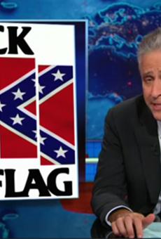 Jon Stewart Borrows Black Flag Logo To Jab At South Carolina