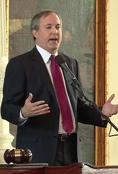Attorney General Ken Paxton speaks at his swearing-in.